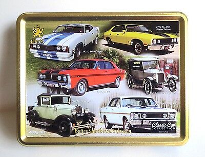 Mac's Fords Classic Car Collection Embossed Biscuit Tin