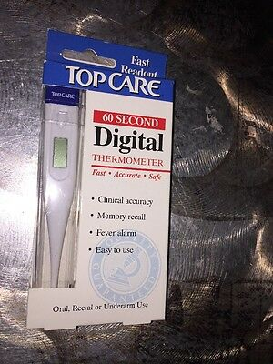 Top Care Digital Flexible Tip Thermometer Fast 60 Second Readout!