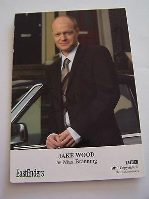 Eastenders Hand Signed Photocard Jake Wood as Max Branning BBC Actor
