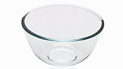 Pyrex Glass Mixing Bowl, Thermal Shock Resistant - 1 Litre