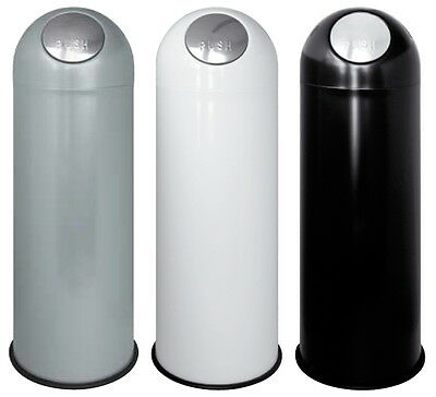 Rubbish Bin Rubbish Container Opening Push Metal Lacquered Col Various