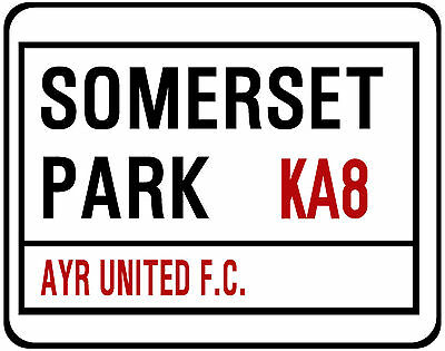 Ayr United F.c. Street Sign On Mouse Mat / Pad. Somerset Park