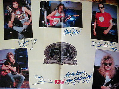 FM Band Poster Double Pages From 1989 Printed Signatures RAW Magazine