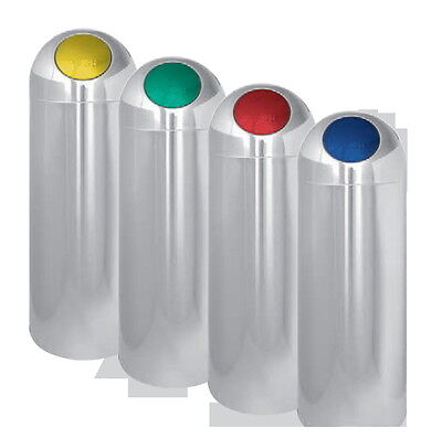 Rubbish Bin Opening Push Lid Colourful Metal Lacquered Steel