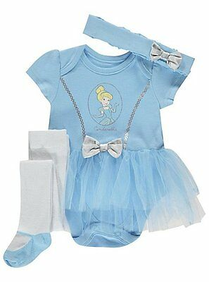 BABY GIRLS 3 Piece Cinderella Tutu  Party Costume/Fancy Dress/Outfit 0-18 Months