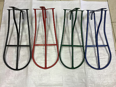 Wall mounted metal Saddle Rack - Black, Red, Green and Blue