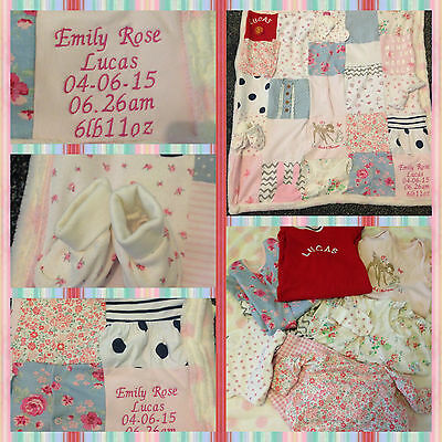 custom made personalised memory keepsake patchwork quilt
