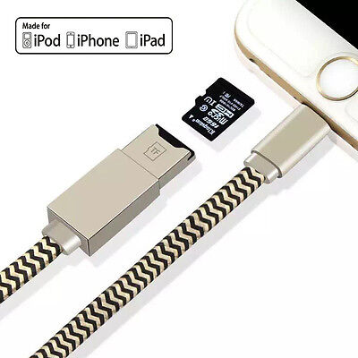 USB i-Flash Drive Data Cable Memory Stick Microsd SD Card Reader for iPhone ipad