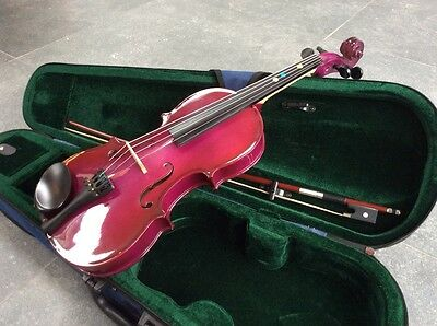 1/2 size violin and carry case - purple