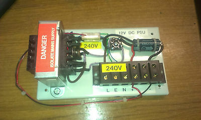 Simple 12V Dc Power Supply Fused With Connectors 240 Vac In
