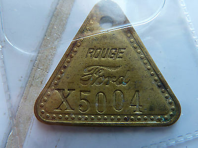 Vintage FORD ROUGE Plate #X5004!!