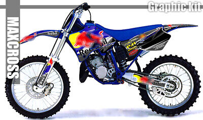 Yamaha Yz125 Yz250 1996 1997 1998 1999 2001 Maxcross Graphics Full Decals Kit