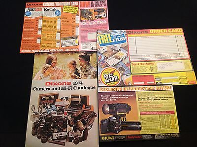 Vintage Dixons 1974 Camera Hi Fi Tv  Radio Catalogue
