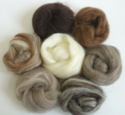 Needle Felting All Natural Collection Ideal for Animal Projects, Felting Wool