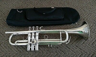 Nice Vintage Burbank Benge 5X Silver Plated Professional Trumpet with Bag