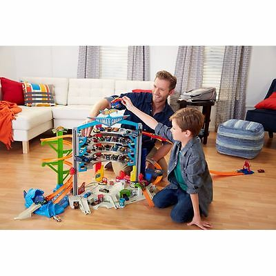 Hot Wheels Ultimate Garage Mega City Parking 36 Cars Racing Boys Fun Game New