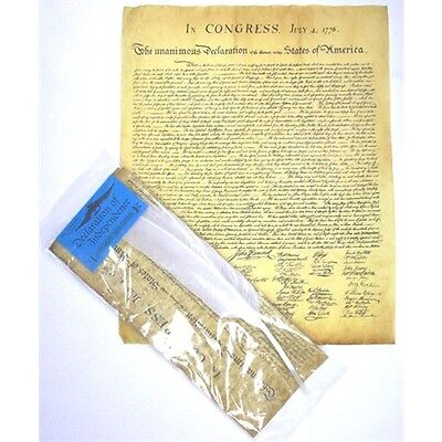 Declaration Of Independence With Quill Parchment Document Reproduction New