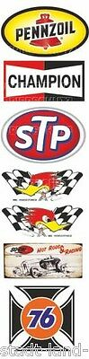 436 Set STP Sticker Gasoline Pennzoil Champion Oldtimer Youngtimer 76
