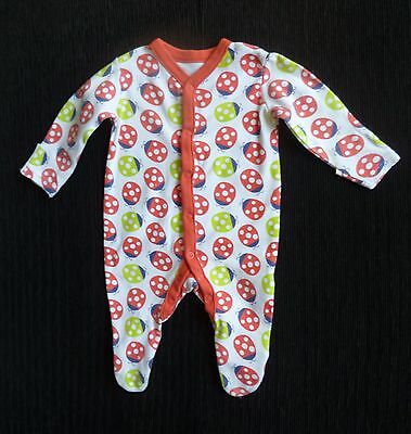 Baby clothes UNISEX GIRL BOY bright red ladybird babygrow 2nd item post-free!