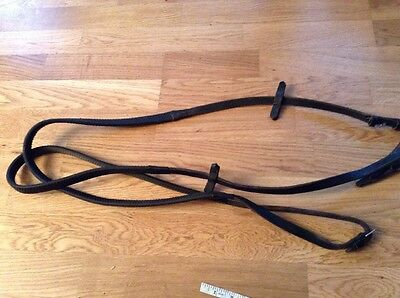 Black English Rubber Grip Reins Cob Size