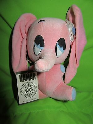 1967 Vtg RARE BOMBO PINK ELEPHANT Japan Sawdust Stuffed Animal KAMAR W/TAG!