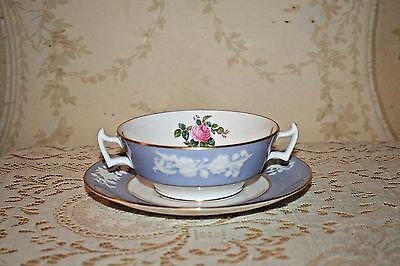 Spode Copeland Maritime Rose Double Handled Soup Bowl & UnderPlate