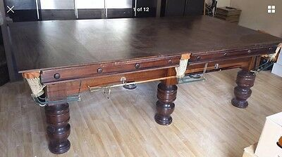8ft x 4ft mahogany Solid Slate Dining / Snooker Pool Table