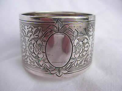 ANTIQUE FRENCH STERLING SILVER NAPKING RING,EARLY 20th CENTURY.