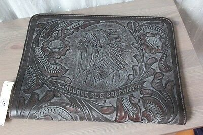 RRL Tooled Leather Indian Chief Folio Case NWT Ralph Lauren
