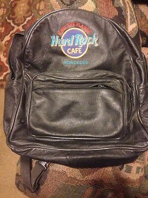 Leather Hard Rock Cafe Backpack From Honolulu