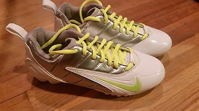 BRAND NEW nike women's speedlax lacrosse cleats size 5 white volt