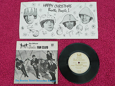 The Beatles 1965 Christmas Uk Fan Club Flexi Disc Stunning Mint- Fully Complete