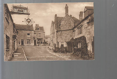 Painswick Tibbywell Street Showing Old Cottages  Vintage Postcard