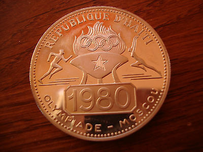 Haiti 50 GOURDES 1977 Olympic Games in Moskow 1980  Rare Mintage #A148