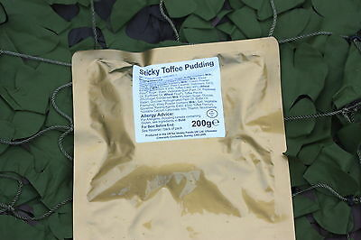6 x STICKY TOFFEE PUDDING British Army MRE Rations Hiking Camping Fishing