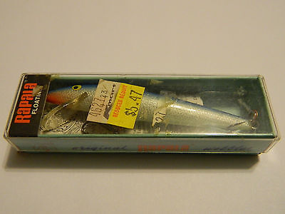 Vintage 80's Rapala Fishing Lure w/ Original Box & K-Mart Sticker