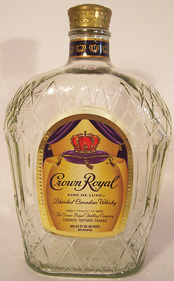 Empty Crown Royal Whisky Bottle with Lid Crown Royal Bottle Crafts