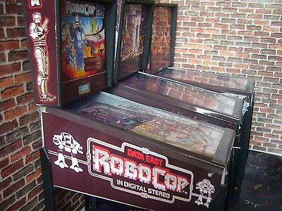 Robocop Miniature Pinball Table Model 1/12 Scale