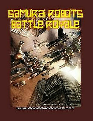 Sci-Fi Samurai Robots Battle Royale Rulebook (21mm x 28mm)-25mm Plus Mecha Rules