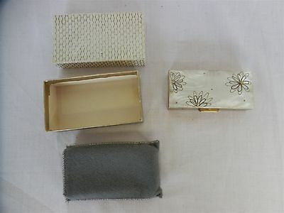 Collectable Mother of Pearl & Metal trinket/cigarette box