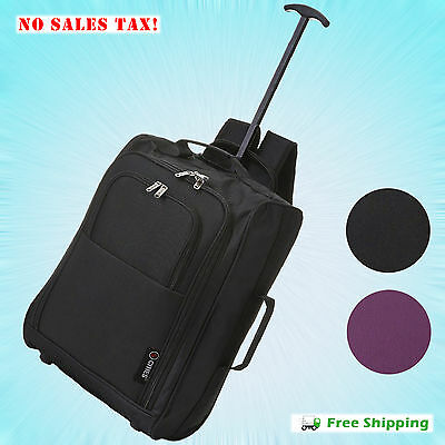 Spinner Rolling Luggage Wheeled Carry-On Suitcase Trolley Travel Bag Backpack
