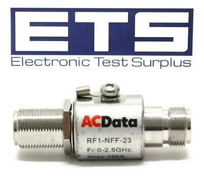 ACData FR1-NFF-23 SureLinx Gas Discharge Tube RF Coax Surge Suppression Adapter