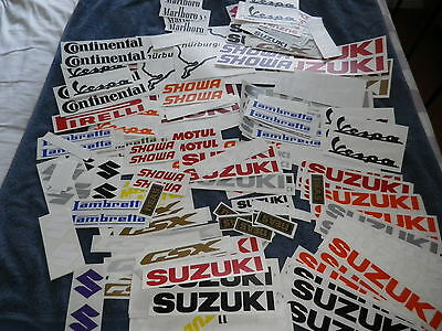 Job Lot of Motorcycle  Stickers 10-12 year quality vinyl 200 plus
