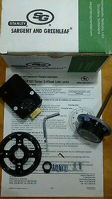 S&G 6730-100 safe lock, Locksmith dial, combination