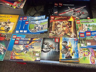 Lot of 14 Mismatched Lego Manual Sets *Manuals Only* incl Indiana Jones Minecraf