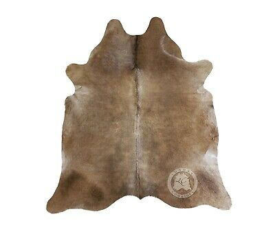 New Brazilian Cowhide Rug Leather TAUPE GREY 6'x8' Cow Hide Rug Cow