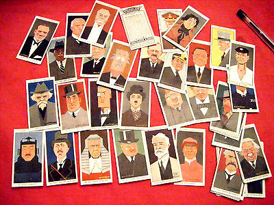 """Part Set, 44/50  """"straight Line Caricatures""""  1936 From Players"""