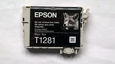 Epson T1281 Black Ink Cartridge Empty Genuine Original No Marks Needs Refilling