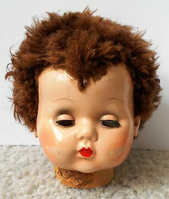 Vintage Imperial Crown Toy Co Hard Plastic Baby Doll Head