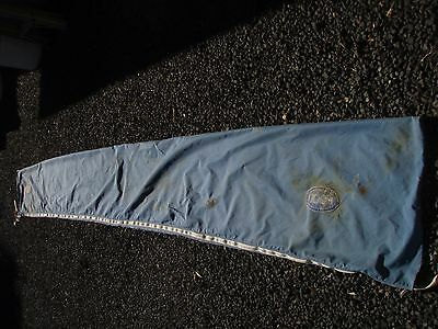 mainsail bag working plastic zipper 5 long x 0.55m repaired ready
